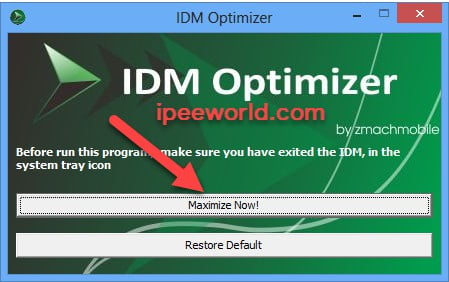IDM Optimizer to Increase Download Speed
