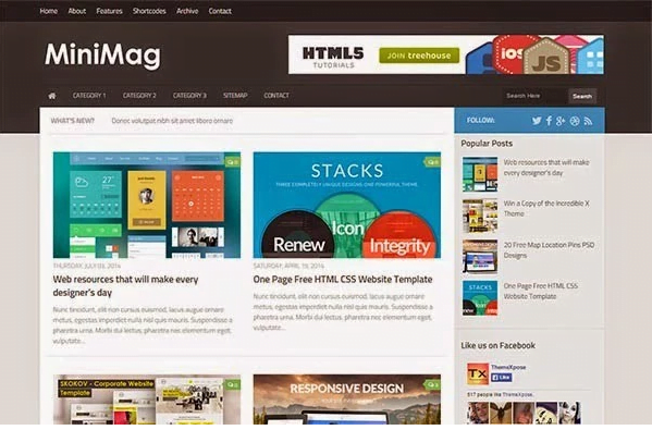 Minimag Blogger template