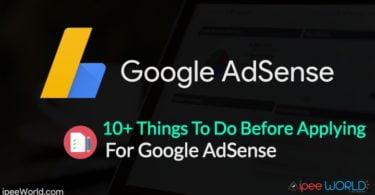 Before Applying for AdSense