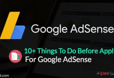 Before Applying for AdSense