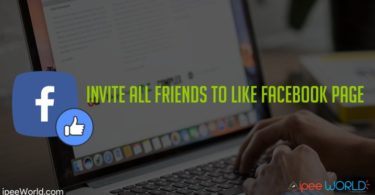 invite all friends to like facebook page