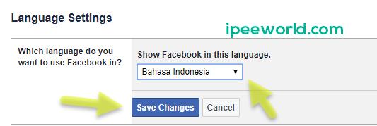 change facebook language to bahasa indonesia