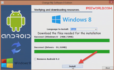Download Windows for Installing it on Android