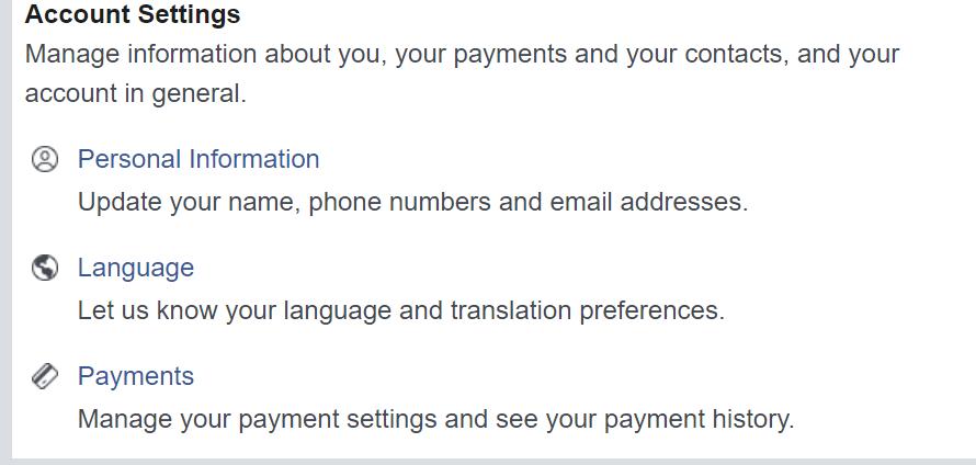 update language in facebook