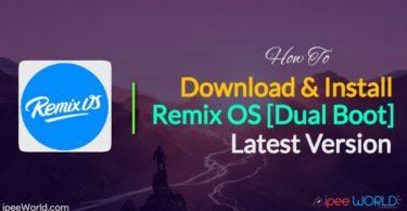 Install Remix OS Dual Boot