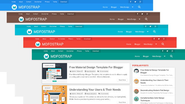 Best ever material design blogger templates 2018 for How to create blogspot template