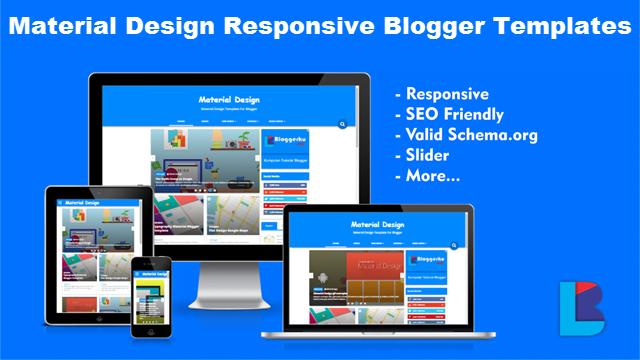 Material Design Responsive Blogger Template