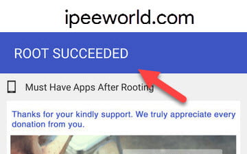 Android Rooted Successfully with Kingoroot