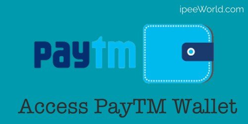 Access PayTM Wallet