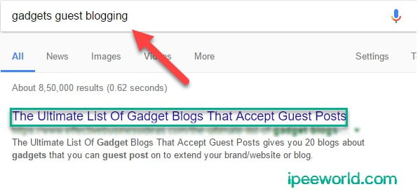 Search For Blogs that Accepts Guest Post