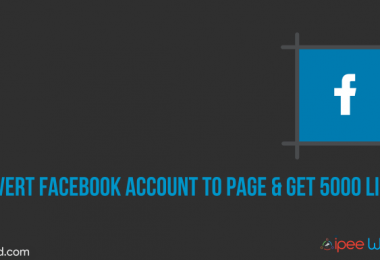 convert facebook account into page