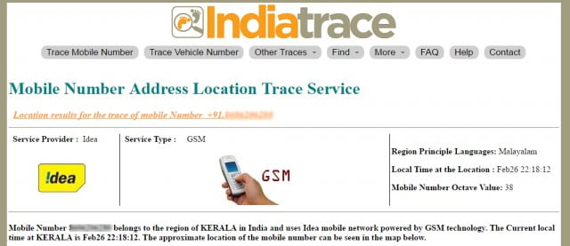 Trace Mobile number With Indiatrace