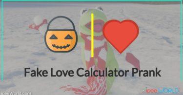 Fake Love Calculator Prank