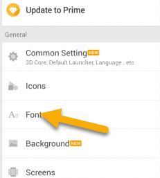 Font Option in Go Launcher