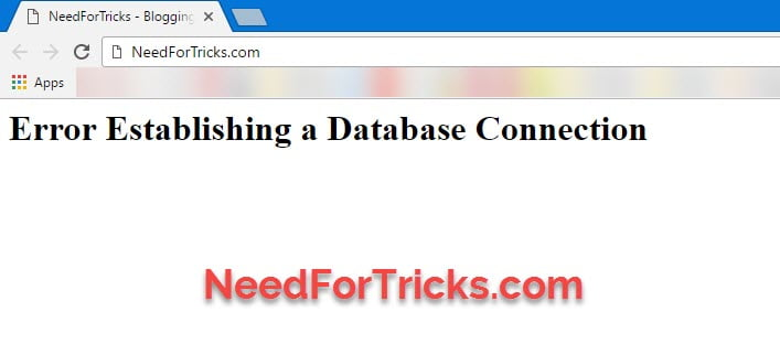 Error-Establishing-a-Database-Connection-Error