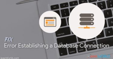 fix error establishing database connection