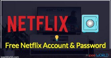 Free Netflix Account and Password