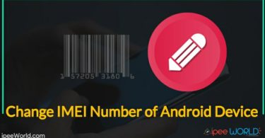 Change IMEI Number on Android