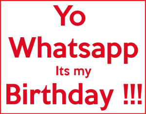 birthday WhatsApp DP