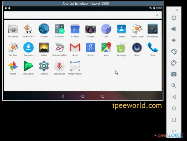 test apk file android emulator