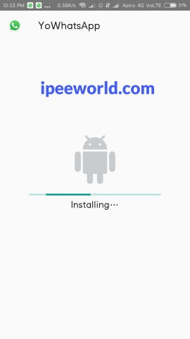 installing YoWhatApp