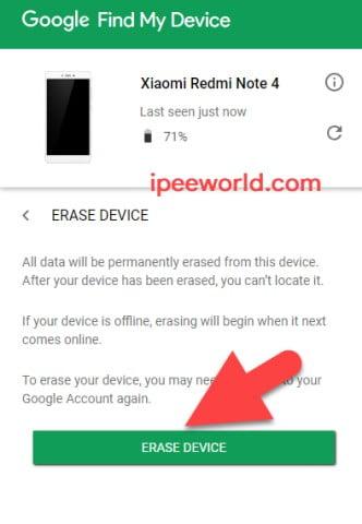 Erase Lost Phone Data