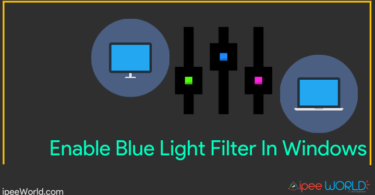 Enable Blue Light Filter for Windows