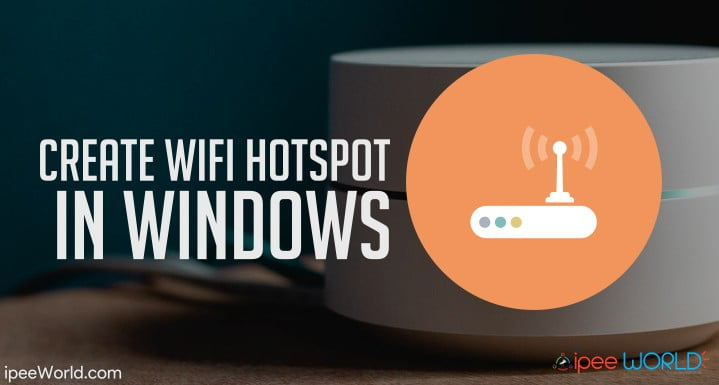 create wifi hotspot in windows