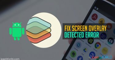 Fix Screen Overlay Detected Error