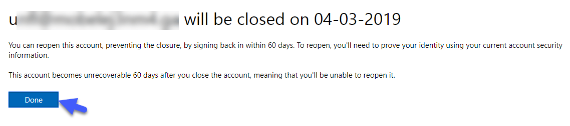 skype account deactivated successfully