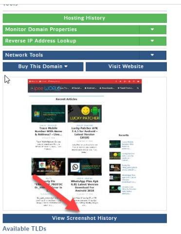 domaintools screenshot