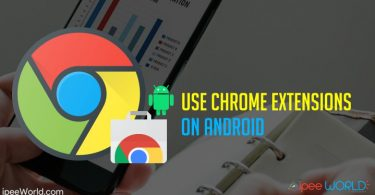 use chrome extension on android