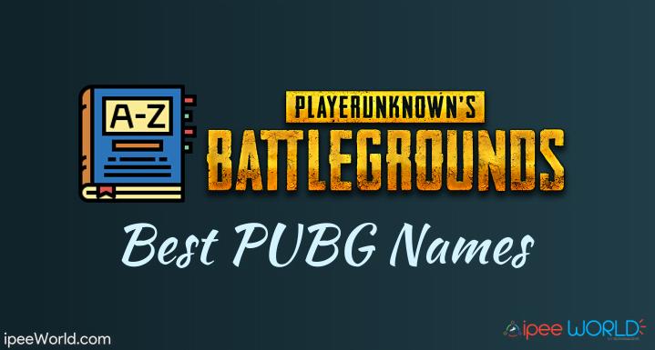 best pubg names