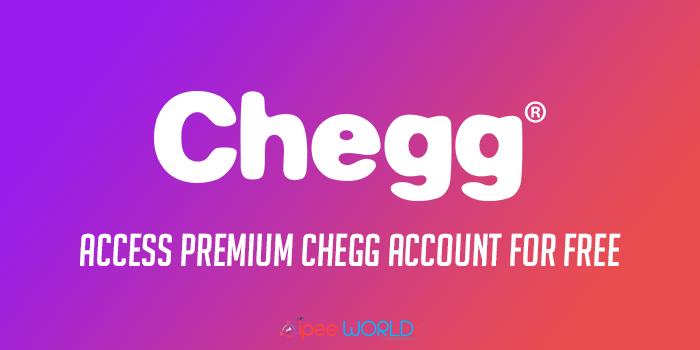 CHEGG PREMIUM FOR FREE