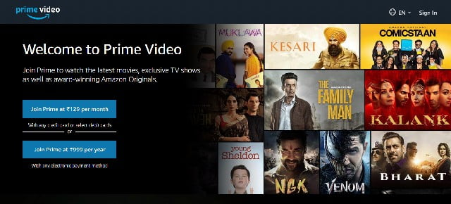 amazon prime video stream hindi movies