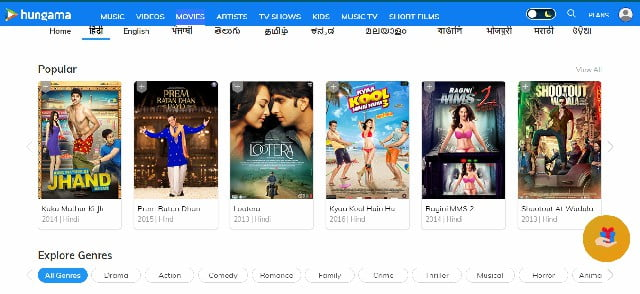 best site to watch hindi movies online