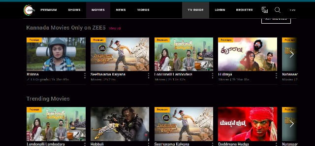zee5 hindi movie site