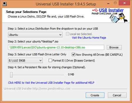Universal USB Installer rufus alternative
