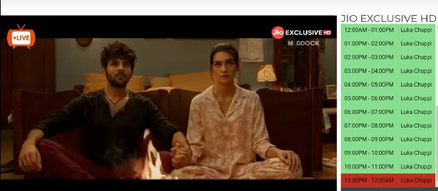 movie playing on jio tv for pc