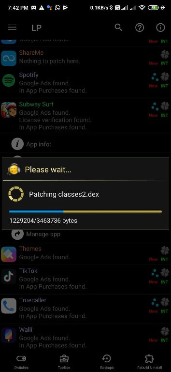 patching app with lucky patcher