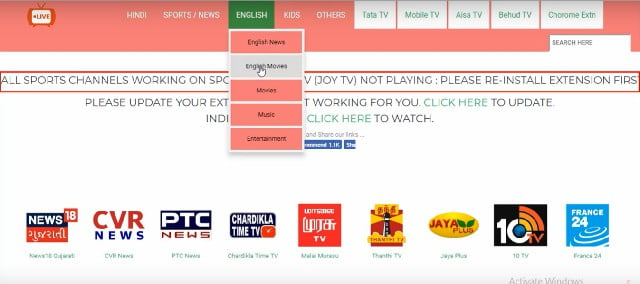 tv channels on jiotv for pc