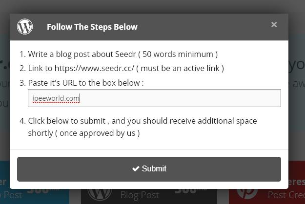 wordpress post getting free space
