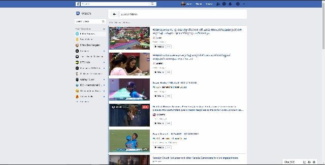 facebook on watch