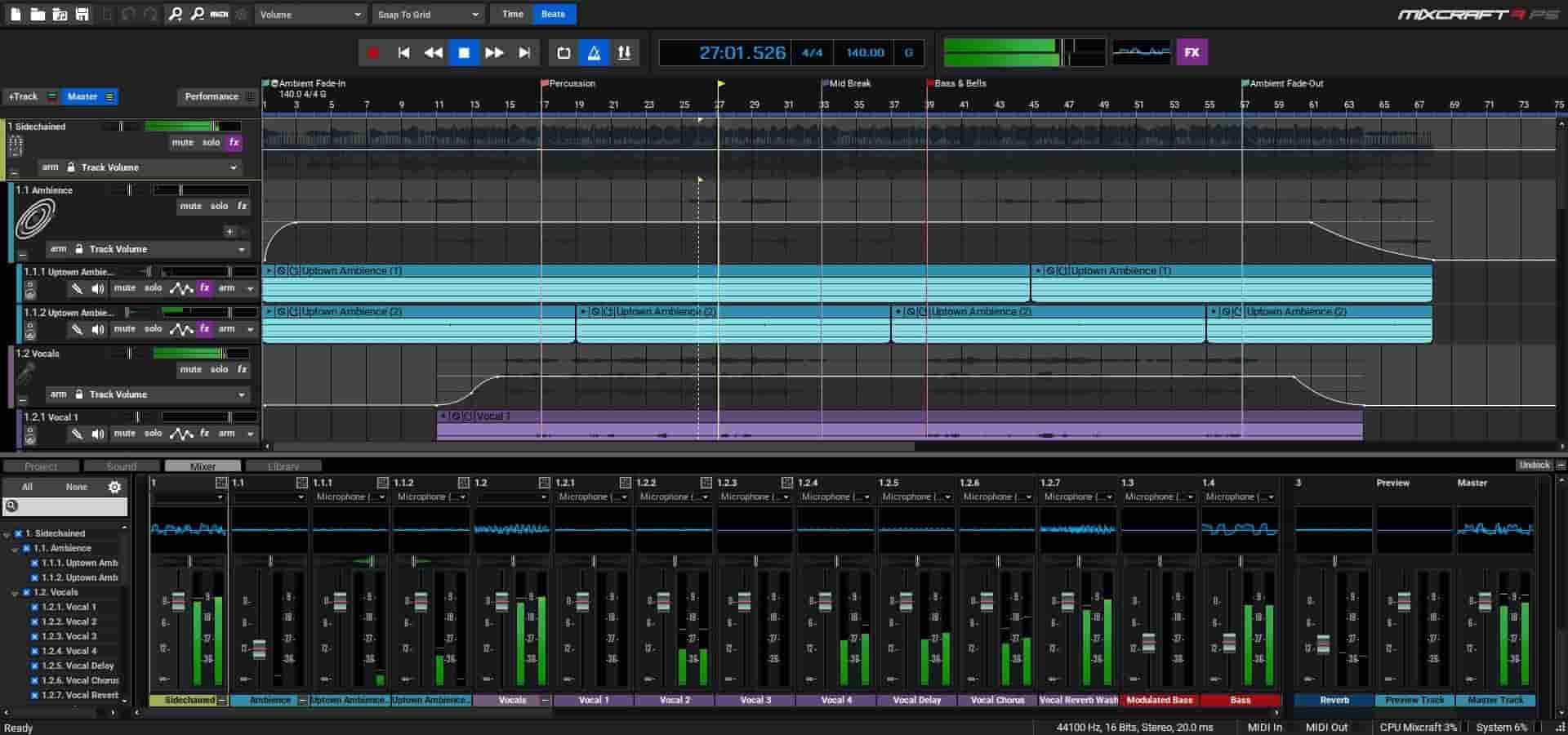 mixcraft audio mixing garageband alternative