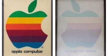 vintage apple retail sign